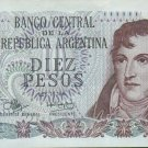 Argentina 10 Pesos Paper Currency