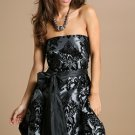 yumi boutique velvet print prom dress