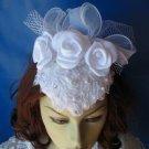 White Classic Elegance Vintage Bridal Hat