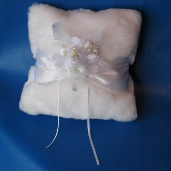 Faux Mink Ring Pillow