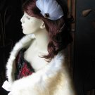 vintage feathers flower fascinator