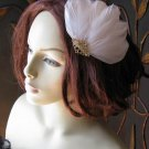 Feathers fascinator Gold