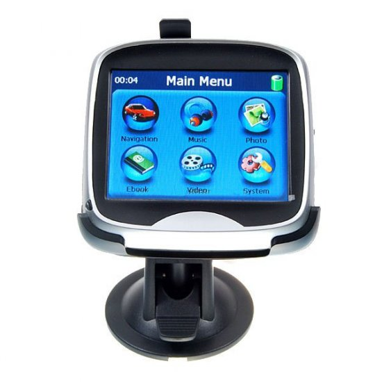 3.5-inch Navi-GPS MP3/MP4-Capable with 2GB SD Card and US Street-Level Map