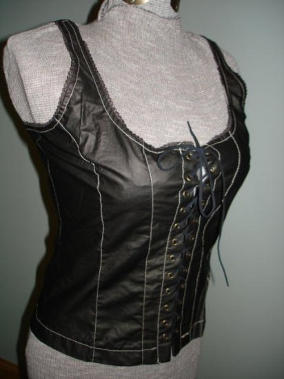 $29.99 Free ship_New-Renaissance Goth Fitted Corset Bodice,Tank top-New &Tag Free shipment