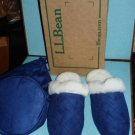 $19.99_New - L.L. LL Bean Women Genuine Shearling Scuff Slipper with Pouch