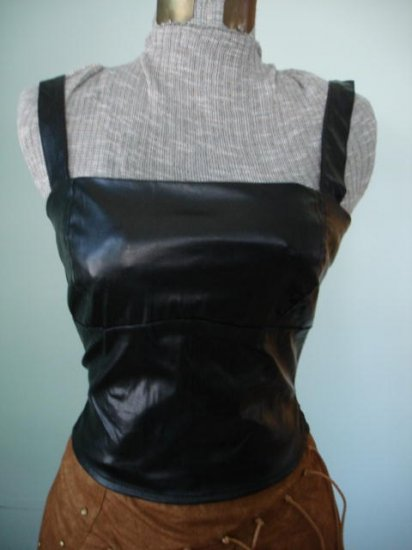 New-Fitted Bodice,Tank top- leather and suede like,M, L, XL