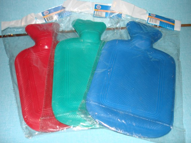 """New 7.5""""X10.5"""" Rubber Hot Water Bottle Bag Old Fashion type"""