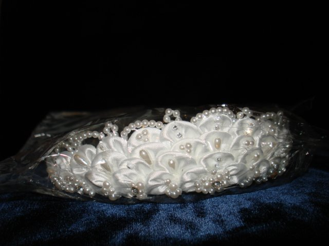 Bridal Wedding Veil Prom Pageant Pearl & cristals Tiara, Crown Headband #H17947
