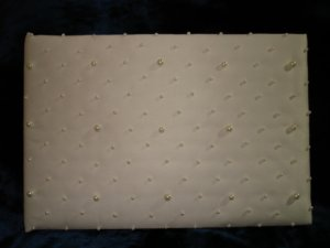 $12.99 IVORY  WEDDING BRIDAL Pearl Decorated RECEPTION GUEST BOOK