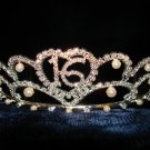 $17.99_New with tag-Rhinestone Crystal & Pearl Sweet 16 Tiara, Crown, Headband