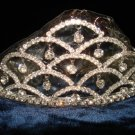 $17.99 Bridal Wedding Veil Prom Pageant Clear Rhinestone Crystal Tiara, Crown Headband #H17947