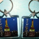 "New York Souvenirs - Set of 2 Brand new key chain 1.5""X1.5"""