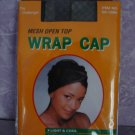 $5.99_New-  1 mesh open top wrap cap in Black color- FOR ALL SIZES