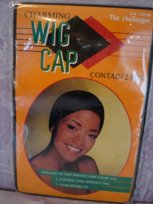 $6.99_2 CHARMING WIG CAP-Stocking Cap - BLACK COLOR- FOR ALL SIZES