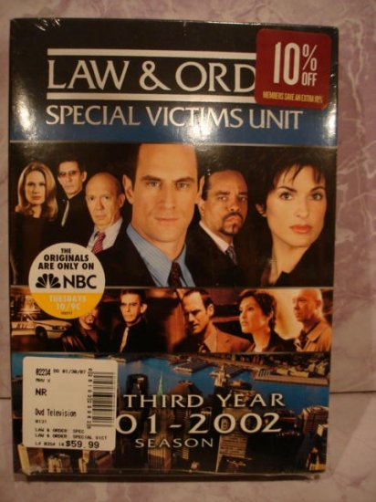 $29.99 Law&Order Special Victims Unit Third Year- Brand New&Sea