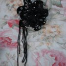$15.99 Evening Veil Prom Pageant  Black,Pearls&Crystal Head Piece tiara,Crown Headband