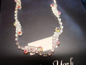 $19.99 Bridal Set of Earringa & Neckless white gold tone & Crystal