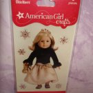 6 piece- American Girl Crafts Formal Dress doll 3D Bubble Stickers