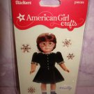 "6 piece- American Girl Crafts ""MOLLY"" doll 3D Bubble Stickers"
