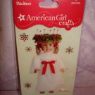 "6 piece- American Girl Crafts ""KRISTEN"" doll 3D Bubble Stickers"