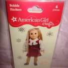 """6 piece- American Girl Crafts """"JULIE"""" doll 3D Bubble Stickers"""