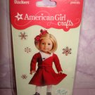 6 piece- American Girl Crafts Kit Kittredge doll 3D Bubble Stickers