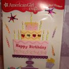 $3.99 for9 piece-American Girl Crafts 3D Style Bubble Stickers Birthday Cake