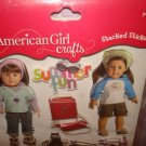 American Girl crafts 10 piece summer fun theme stickers