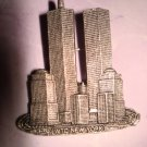 $9.99 Free-ship New-WTC_Twin Towers-World Trade Center New York Pin Brochet in Silver color 9/11