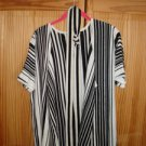 New Rebecca Moses 1XL&1XS long Black Stripes Cardigan heart soul style Sequins