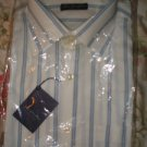 "NEW & Tag MEN'S Italian ""Gino Di Marco"" DRESS SHIRT Long Sleeve Size L striped"