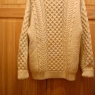 New &Tag-John Molloy  Wool Sweater,Pullover Virgin Wool Nat color,Ireland M,L/XL