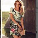 NWT H&M Vanessa Paradis Conscious Tropical Dress Green SZ US 6=36 EUR,8,10,14