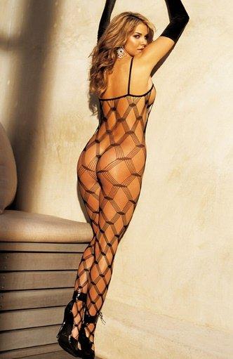 SEXY Big Open Diamond Patterend Fishnet Bodystocking Lingerie