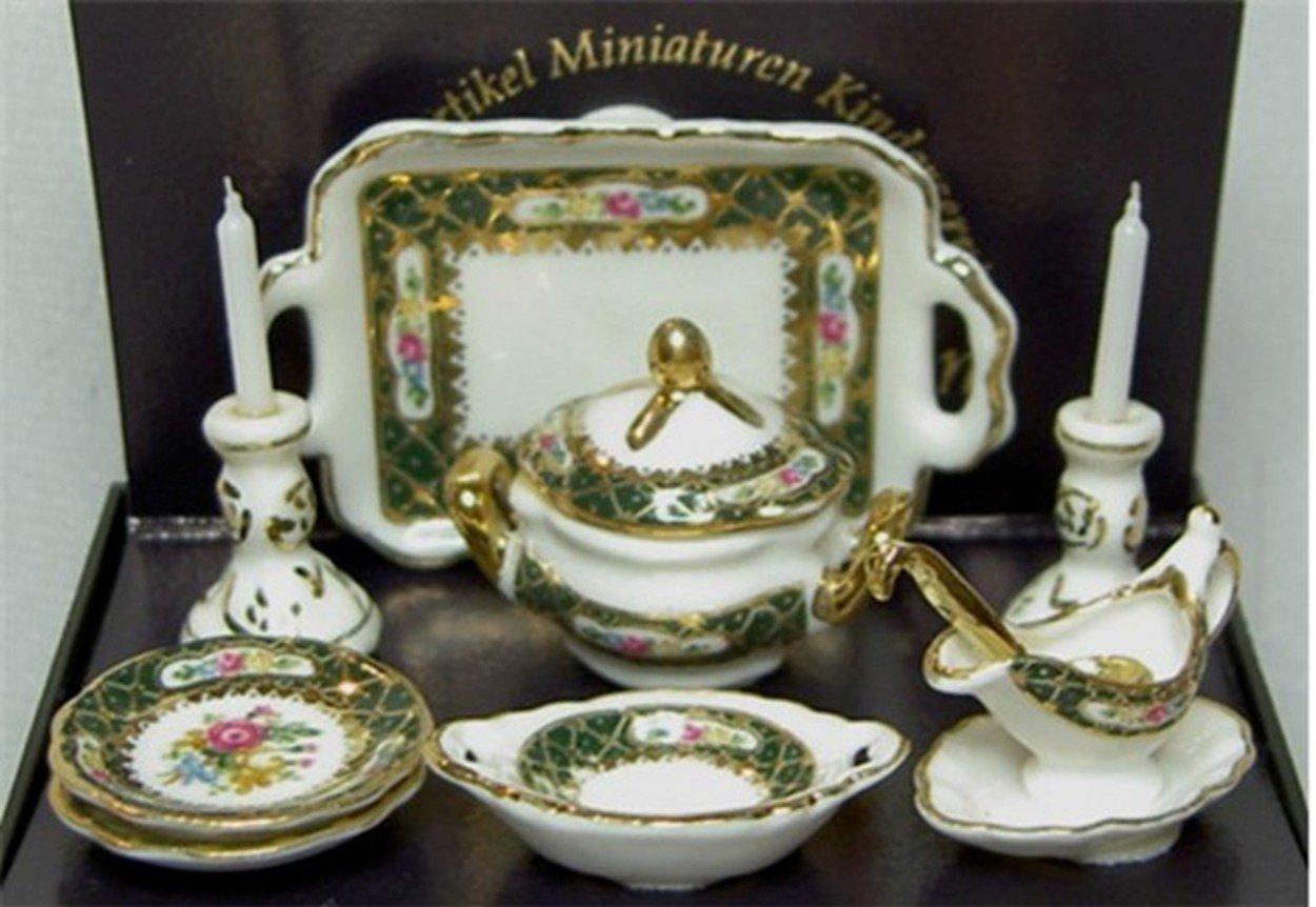 Dollhouse Irish Rose Dinner Set Reutter Porcelain