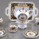 Dollhouse IRISH ROSE TEA SET Reutter Porcelain Miniature Dishes 1:12 Scale