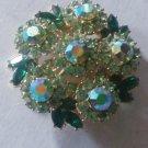 Vintage Signed Beautiful Crown Trafiri Rhinestone Pin Brooch