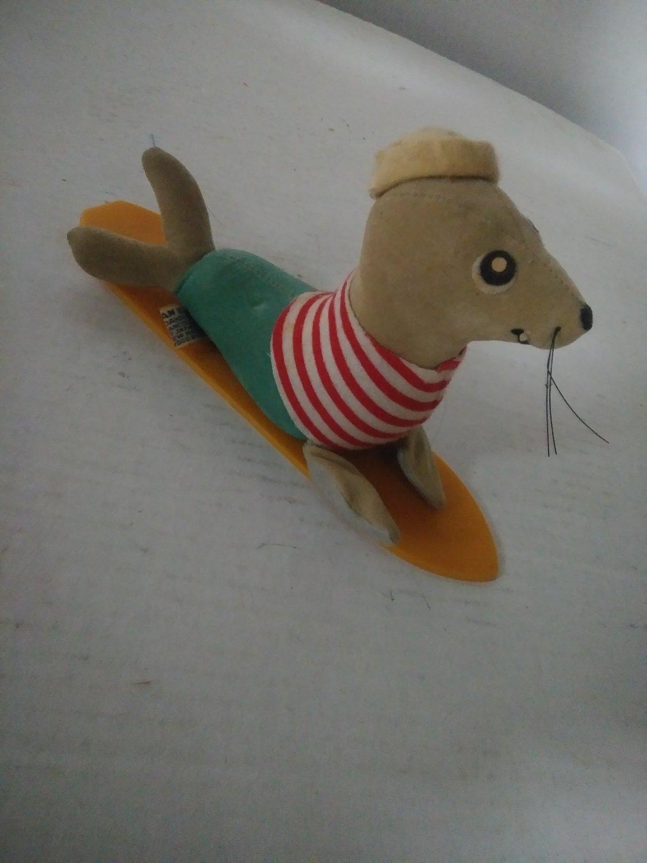 1960's Surfer Surf Seal Dakin Dream Pet Dog