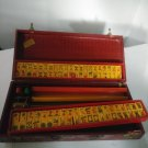 Vintage Cardinal Butterscotch Bakelite Catalin Game MahJong Set In Box