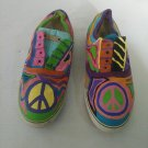 Vintage Pair L.L.Bean Psychedelic Peace Shoes Sneakers Size 11
