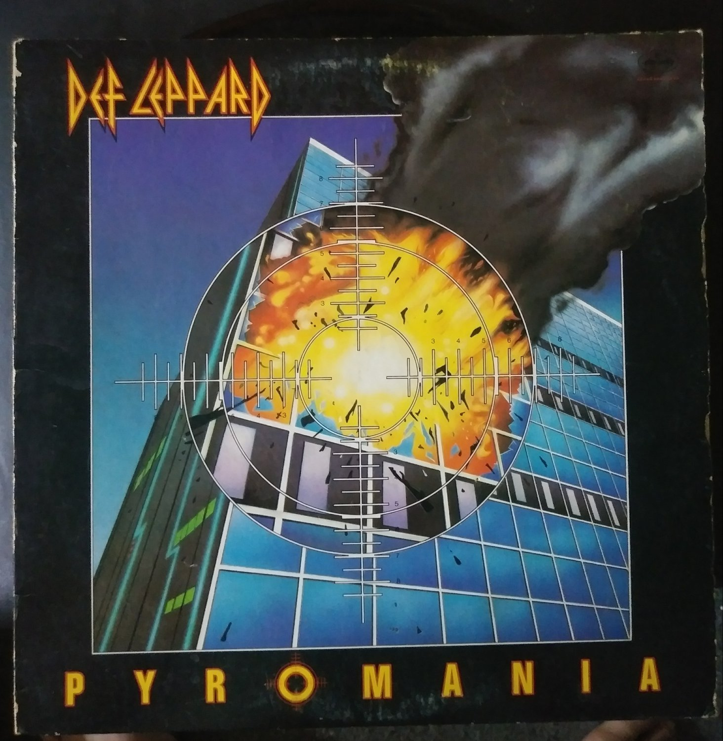 Vintage 1983 Dec Leppard Pyromania Record Album Lp