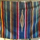 Vintage 1940's- 50's Mexican Serape Saltillo Blanket