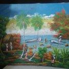 Vintage Haitian Haiti Signed Painting Acrylic or Oil