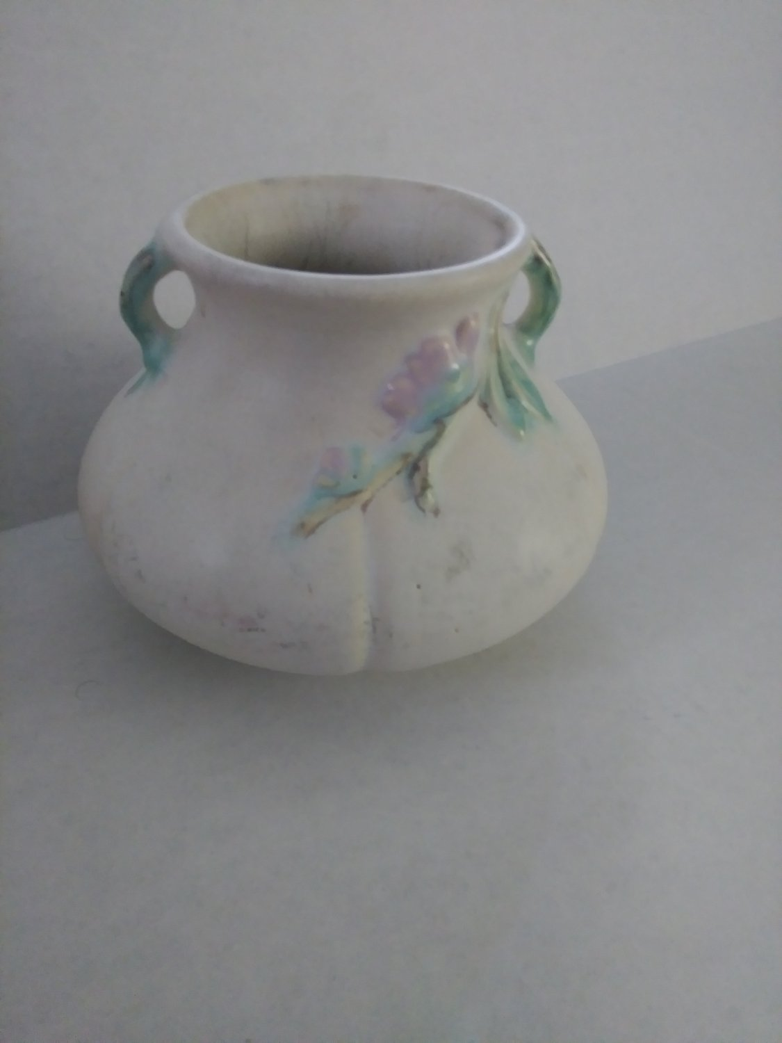 Vintage Matte finish Weller F 2 Pottery Vase