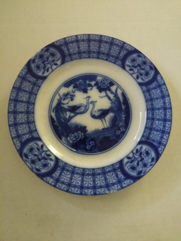 Vintage Flow Blue Mongoha Johnson Bros. England Dinner Plate