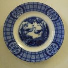 Vintage Flow Blue Mongoha Johnson Bros. England Dinner Plate