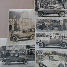 Vintage Antique Automobile Photo Lot 6 B&W 8x10 Photo's