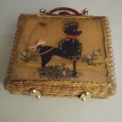 Hong Kong Wicker And Orange Lucite Poodle Purse Princess Charming By Atlas