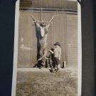 Antique 1920's B & W Photo Album 220 Photo's Vacations,Collage, Antics,Hunting obo