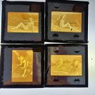 Vintage Erotic Risque 1950's 60's Nude Woman 35mm Slide Lot 4 Slides f